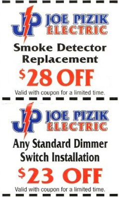 Discount Electrical Safety Inspection Coupon-Smoke Detector Replacement Discount-Dimmer Switch Installation Coupon-Michigan